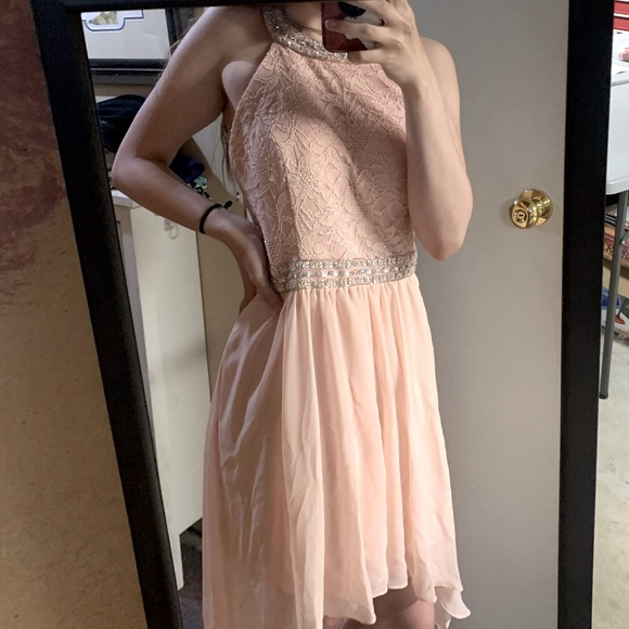 Pink Collared le chateau Party Dress
